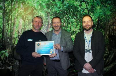 Verleihung der Auszeichnung im SEA LIFE Oberhausen