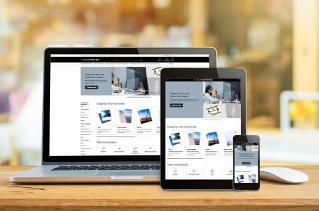 Der Onlineshop von ONLINEPRINTERS wurde kürzlich einem ganzheitlichen Redesign unterzogen. Nun können sich Kunden unter onlineprinters.es auch via Smartphones und Tablets über die mehr als 5.000 Druckprodukte informieren, live konfigurieren und schnell und einfach bestellen. Langes Warten auf Angebot gehört damit der Vergangenheit an / Copyright: ONLINEPRINTERS GmbH