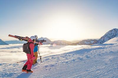 Traumhaft: Die schönsten Skigebiete der Alpen locken. Foto: Helmut Lackner
