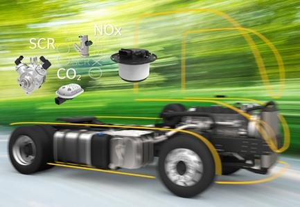 Continental bedient mit seiner Kompetenz die gesamte Wirkungskette vom Lufteinlass über die Gemischauf-bereitung, Verbrennung im Motor bis hin zum Auslass nach der Abgasnach-behandlung