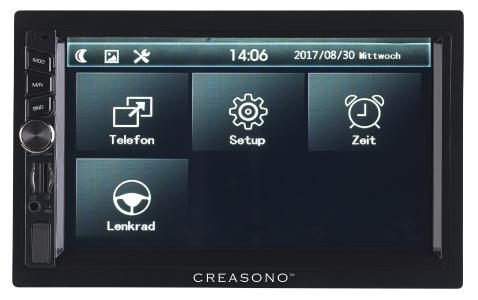 PX 2336 07 Creasono 2 DIN MP3 Autoradio mit Touchdisplay. Bluetooth und Freisprecher