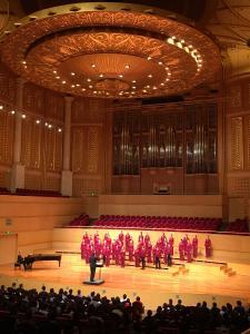 Phil Kinderchor in Wuhan Qintai Music Hall / Copyright: Dresdner Philharmonie