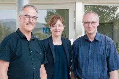 Neu im NTX-Team: Die Projektleiter Stefan Dalmühle (l.) und Rose Schenk mit Martin Wichert (r.)