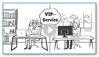 Foto: uniVersa, Der VIP-Service bietet Vermittlern einen deutlichen Mehrwert