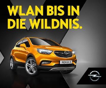 X-tra erreichbar: Mit Opel OnStar und leistungsstarkem WLAN-Hotspot sind MOKKA X-Passagiere auch in der Wildnis mit der Welt verbunden