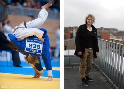 Ob im Kampf oder auf dem Campus: Jana Stucke will hoch hinaus und erzielt Erfolge im Sport und im Studium