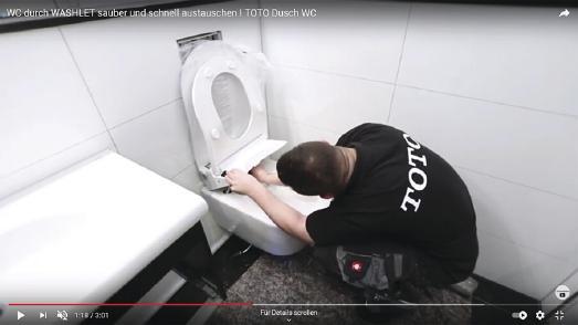 Vom WC zum Dusch-WC - in kürzester Zeit mit TOTO