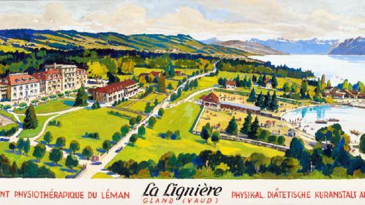 Ausschnitt einer historischen Karte der Klinik La Lignière © Foto: La Lignière