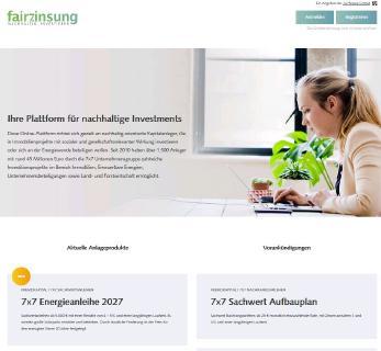 Die neue Onlineplattform fairzinsung ermöglicht die Online-Zeichnung nachhaltiger Kapitalanlagen.