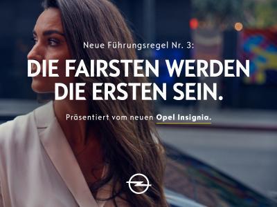 Fairness geht vor: Dafür steht der neue Opel Insignia mit vielen Premium-Technologien an Bord