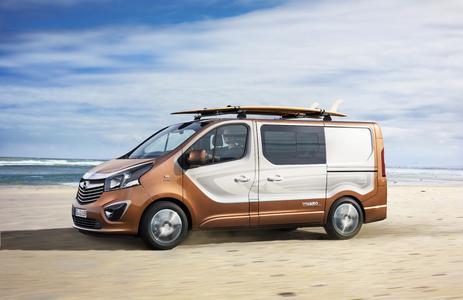 Kraftvoll motorisiert: Opel Vivaro Surf Concept mit 103 kW/140 PS starkem 1.6 BiTurbo CDTI