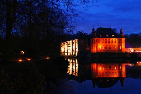Schlossweihnacht Schloss Dyck; Abendstimmung
