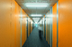Green, blue and orange: on each floor, visitors are guided by a different colour scheme in the corridors. Spirits are lifted by cheerful colours in the corridors, with Linaria individual batten luminaires providing orientation