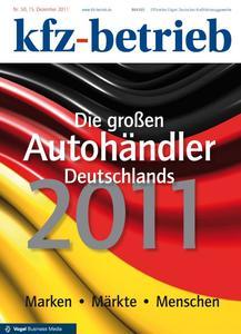 """Titelseite """"Die großen Autohändler Deutschlands 2011"""""""