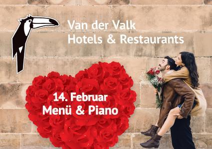 Romantisches Menü mit Piano und mehr