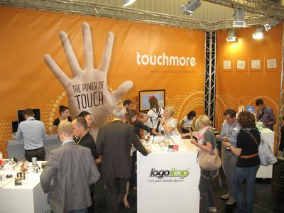 Besucherandrang am Touchmore-Messestand