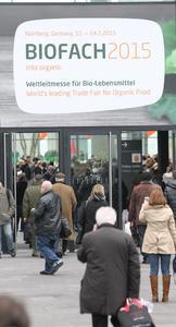 Größte Bio-Messe der Welt: die BIOFACH in Nürnberg. Bayern will im Markt der Biolebensmittel die Produktionskapazität bis 2020 verdoppeln.      Foto: obx-news/NürnbergMesse