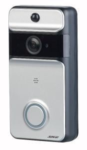 Somikon WLAN-Video-Türklingel VTK-250 mit App, PIR-Sensor, 166° Bildwinkel, Akku, IP53
