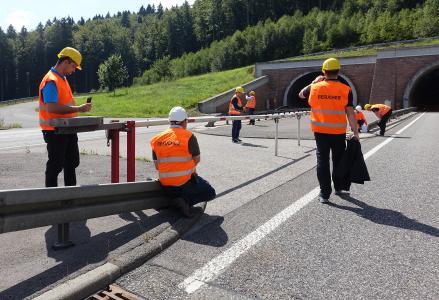 Feldstudie zur Verkehrssicherheit am Tunnel Rennsteig (Bild: BASt)