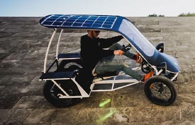 Seitenansicht des Prototyps Duo Moke von Urban Drivestyle