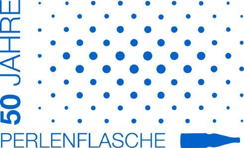 Logo 50 Jahre Perlenflasche
