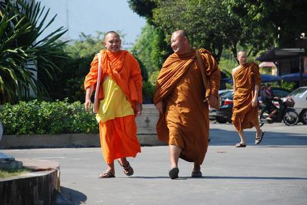 Thailand, Mönche in Chiang Mai