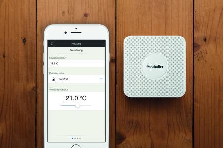 Mit App und Zentraleinheit lässt sich die Smart Home-Technik ganz einfach bedienen, Bildnachweis: wibutler
