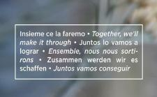 Zusammen werden wir es schaffen - together, we'll make it through!