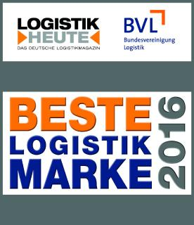 """""""Beste Logistik Marke 2016"""" ausgezeichnet"""